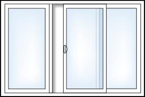 3 Panel Sliding Patio Door