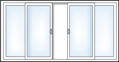 4 Panel Sliding Pation Door